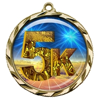 "2-1/4"" 5K Medal with Epoxy Dome 022-D06"