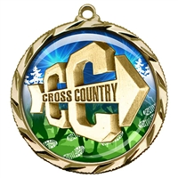"2-1/4"" Cross Country Medal with Epoxy Dome 022-D18"