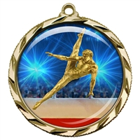 "2-1/4"" Male Gymnastics Medal with Epoxy Dome 022-D24"