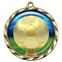 "2-1/4"" Soccer Medal with Epoxy Dome 022-D30"