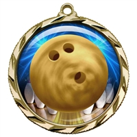 "2-1/4"" Bowling Medal with Epoxy Dome 022-D60"