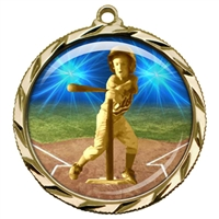 "2-1/4"" T Ball Tee Ball Medal with Epoxy Dome 022-D82"