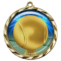 "2-1/4"" Tennis Medal with Epoxy Dome 022-D84"