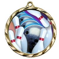 "2-1/4"" Bright Edge FCL Bowling Medal 022-FCL14"