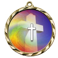 "2-1/4"" Bright Edge FCL Religion Medal 022-FCL36"