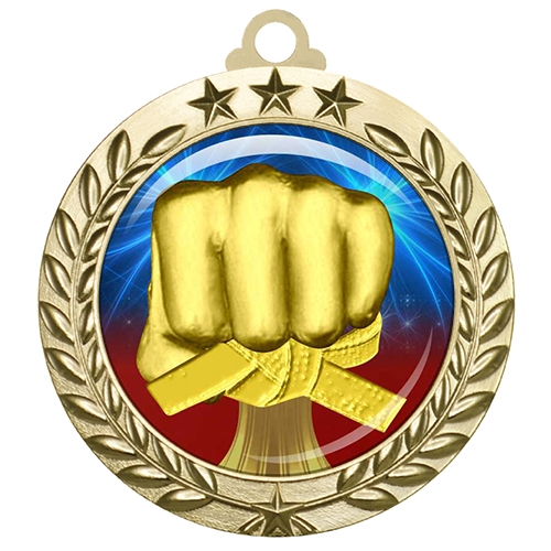 "2-3/4"" Martial Arts Medal with Epoxy Dome 030-D25"