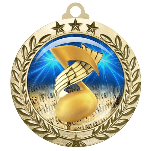 "2-3/4"" Music Medal with Epoxy Dome 030-D55"