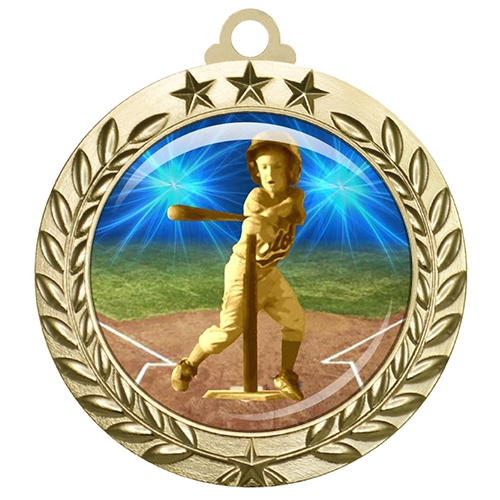 "2-3/4"" T-Ball Tee Ball Medal with Epoxy Dome 030-D82"