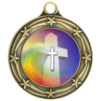 "3"" Star Full Color Religious Medals 033A-FCL-36"