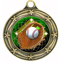 "3"" Star Full Color Baseball Medals 033A-FCL-408"