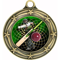 "3"" Star Full Color Cricket Medals 033A-FCL-444"