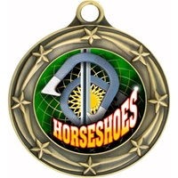 "3"" Star Full Color Horseshoes Medals 033A-FCL-497"