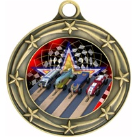 "3"" Star Full Color Pinewood Derby Medals 033A-FCL-522"