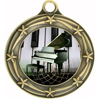 "3"" Star Full Color Piano Medals 033A-FCL-524"