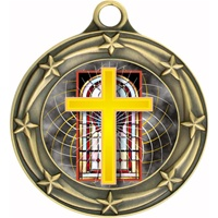 "3"" Star Full Color Religious Cross Medals 033A-FCL-528"