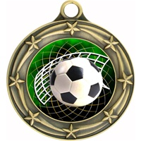 "3"" Star Full Color Soccer Medals 033A-FCL-542"
