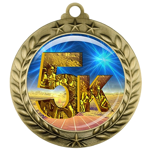 "2-3/4"" 5K Medal with Epoxy Dome 039-D06"