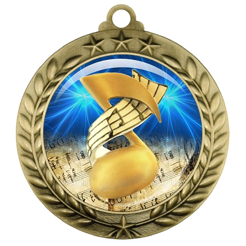 "2-3/4"" Music Medal with Epoxy Dome 039-D55"