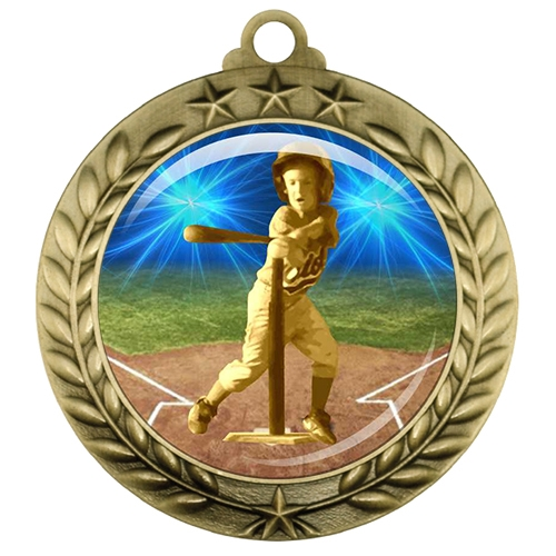 "2-3/4"" T-Ball Tee Ball Medal with Epoxy Dome 039-D82"