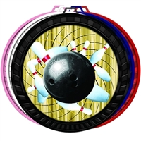 "2-1/2"" Color Bowling Medal 052-FCL426"