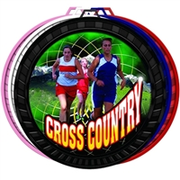 "2-1/2"" Color Female Cross Country Medal 052-FCL445"