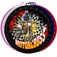 "2-1/2"" Color Motorcross Medal 052-FCL515"