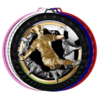 "2-1/2"" Color Burst Girls Soccer Medal 052-FCL769"