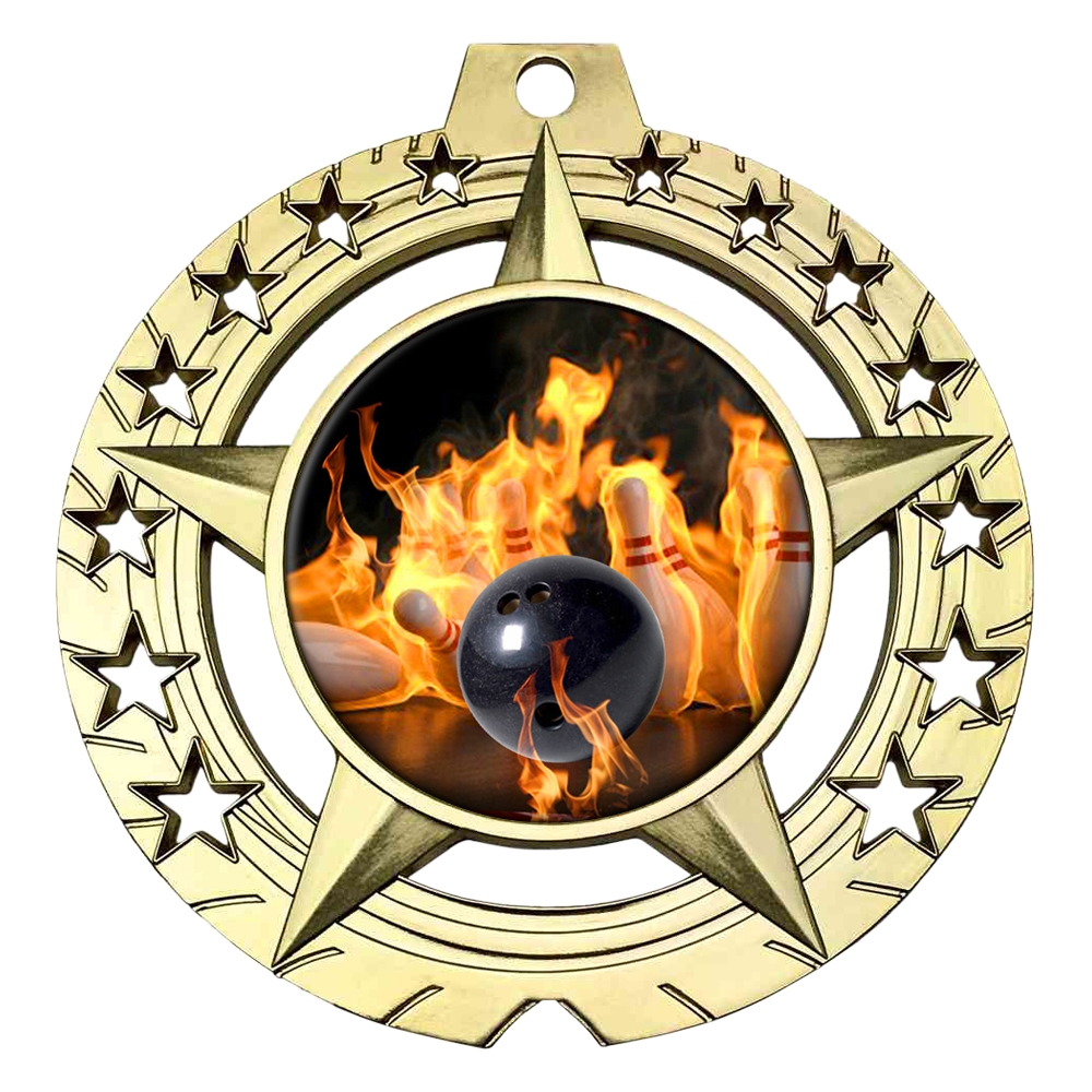 Flame Bowling Medal