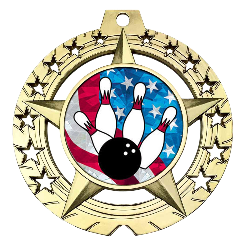 "Large 3-3/4""  Bowling Medal"