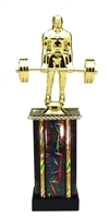 Moonbeam Column Riser Deadlift Weightlifter Trophy in 11 Color Options