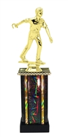 Moonbeam Column Riser Male Horseshoe Trophy in 11 Color Options