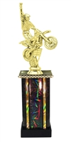 Moonbeam Column Riser Motocross Trophy in 11 Color Options