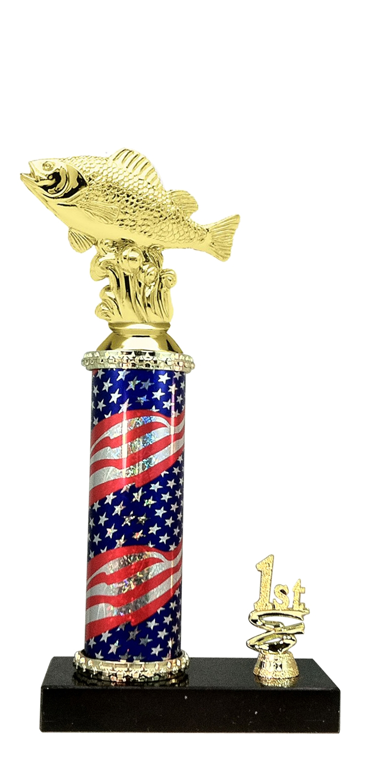Perch Trophy 1st 2nd 3rd Place on marble base in (3 - Sizes)