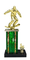 1st - 5th Place Moonbeam Riser Snow Boarding Trophy in 11 Color Options