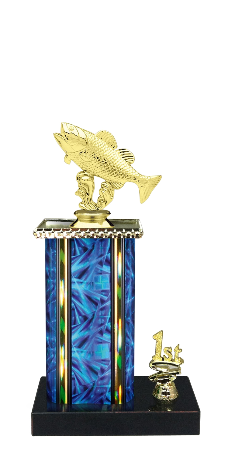 Fishing Trophy 1st 2nd 3rd Place on marble base in (3 - Sizes)