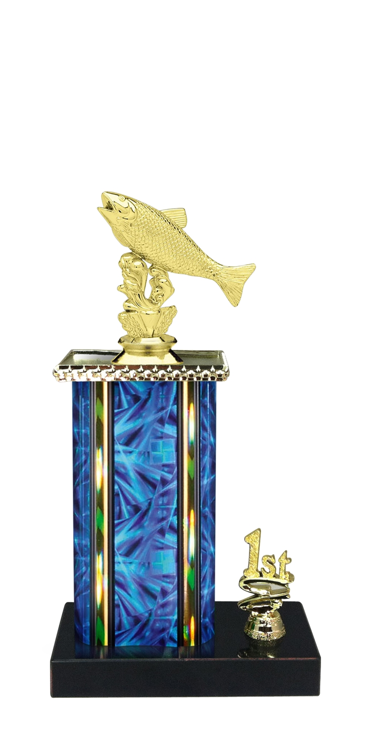 Salmon Trophy 1st 2nd 3rd Place on marble base in (3 - Sizes)