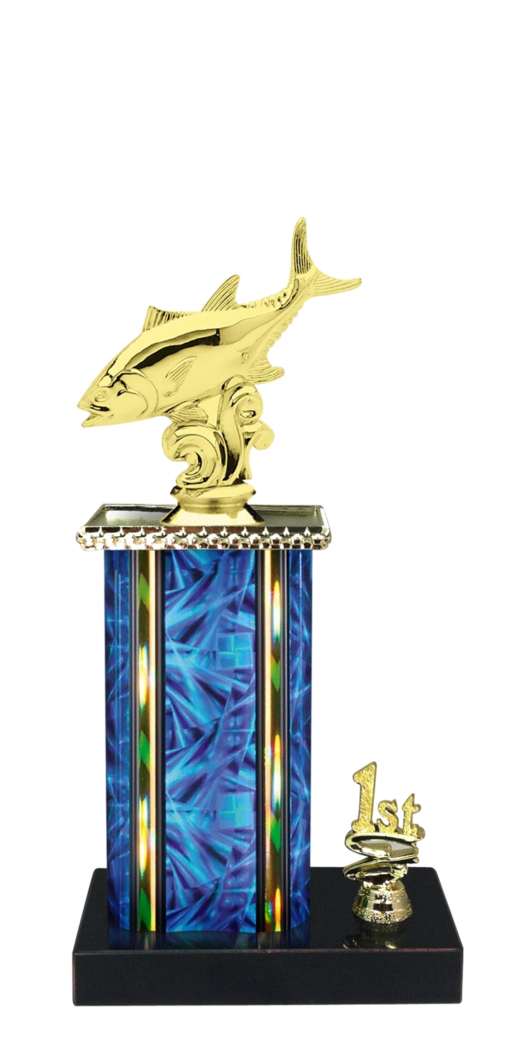 Tuna Trophy 1st 2nd 3rd Place on marble base in (3 - Sizes)