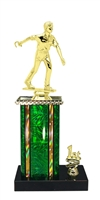 1st - 5th Place Moonbeam Riser Male Horseshoe Trophy in 11 Color Options