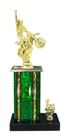 1st - 5th Place Moonbeam Riser Motocross Trophy in 3 Sizes - in 11 Color Options