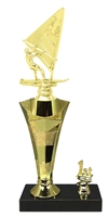 1st - 5th Place Star Riser Windsurfer Trophy in 3 Sizes