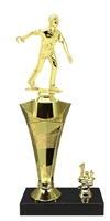1st - 5th Place Star Riser Male Horseshoe Trophy in 3 Sizes