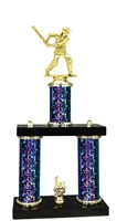 2 Column Starburst PLUS Male Cricket Trophy in 5 Colors
