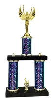 2 Column Starburst PLUS Female Victory Trophy in 5 Colors