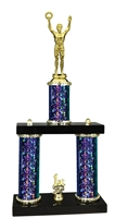 2 Column Starburst PLUS Male Victory Trophy in 5 Colors