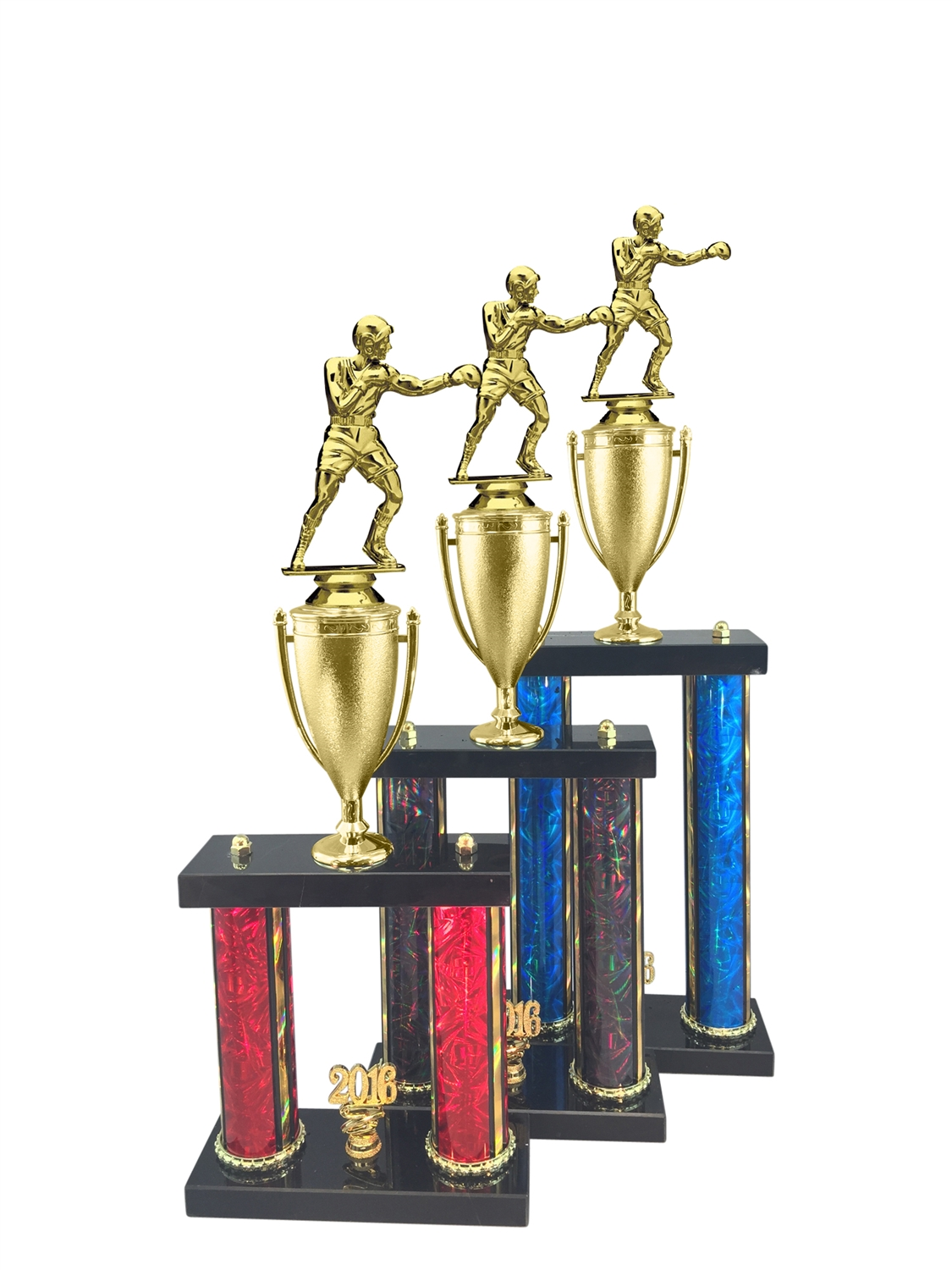 2 Post Boxing Trophy in 11 Color & 3 Size Options