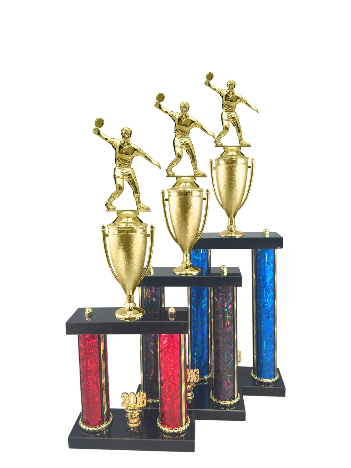 Male Ping Pong Trophy Available in 11 Color & 3 Size Options