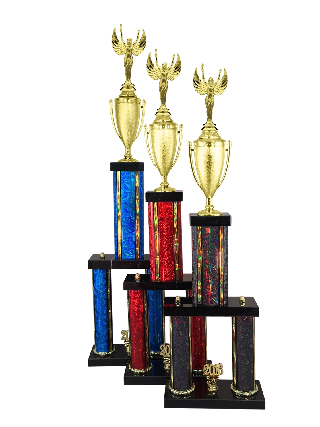 2 Column Female Victory Trophy in 11 Color & 6 Size Options