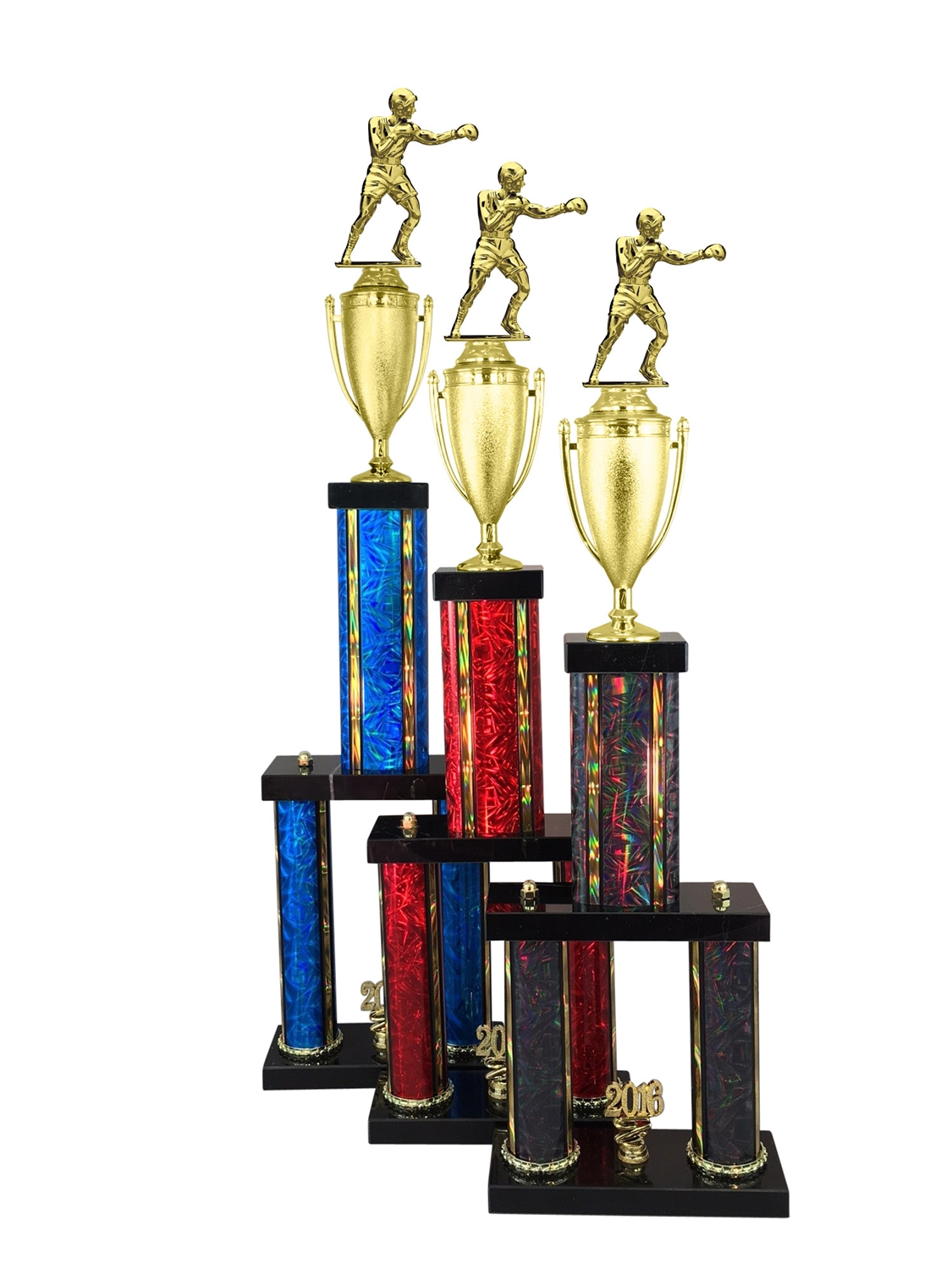 2 Column Boxing Trophy in 11 Color & 6 Size Options