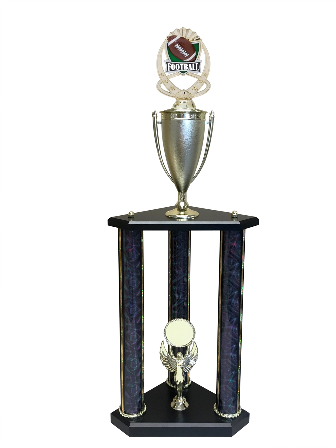 3 Post Football Trophy in 11 colors & 3 sizes