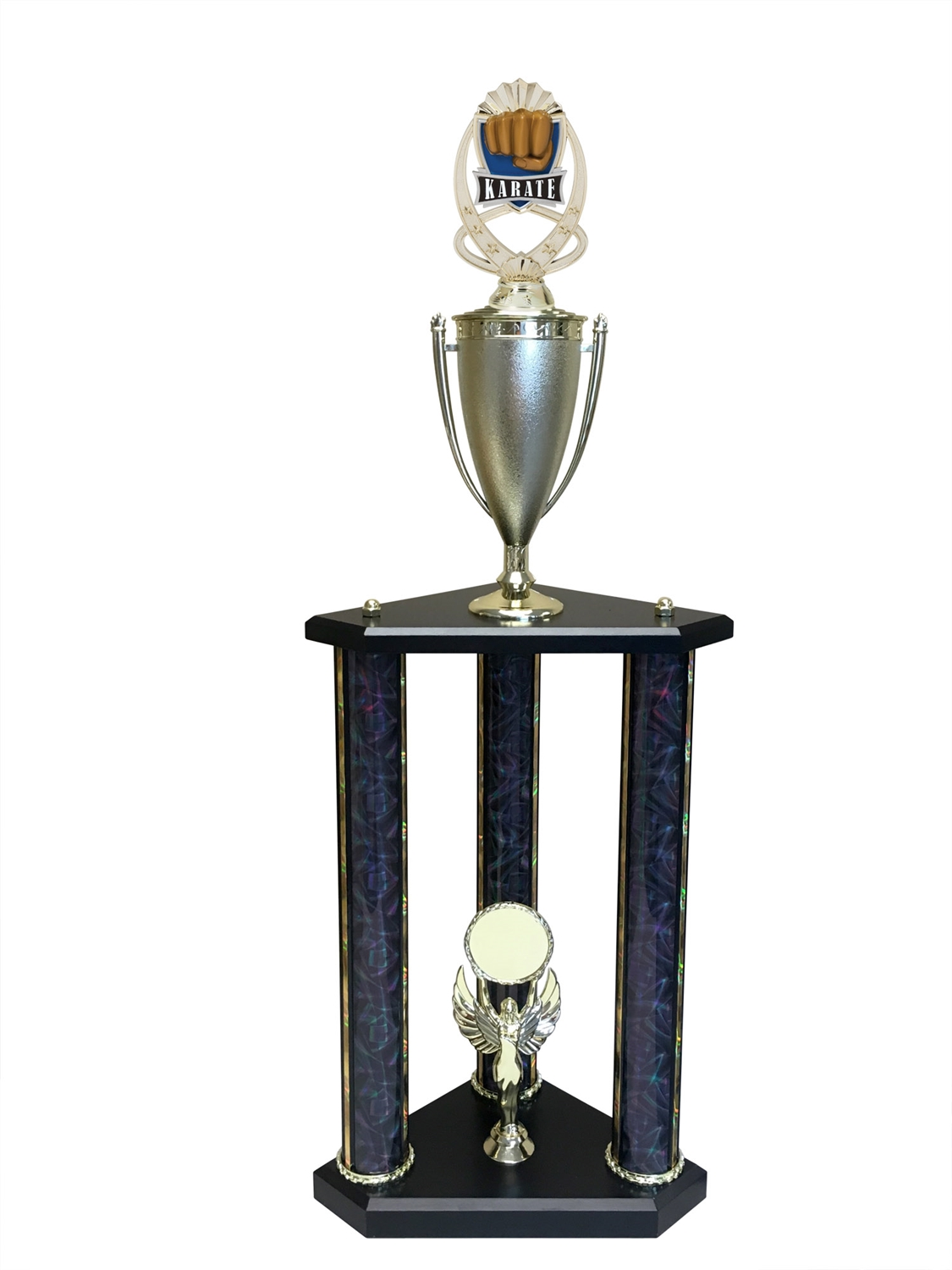 3 Post Karate Trophy in 11 colors & 3 sizes